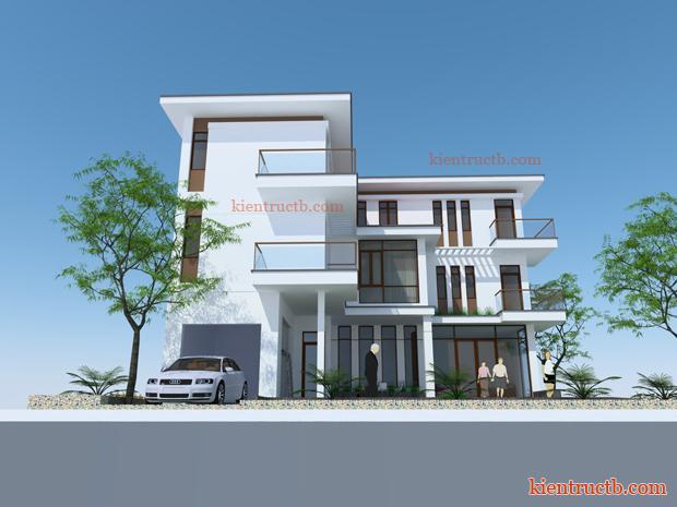thiết kế biệt thự hiện đại tại thành phố Nam Định 06