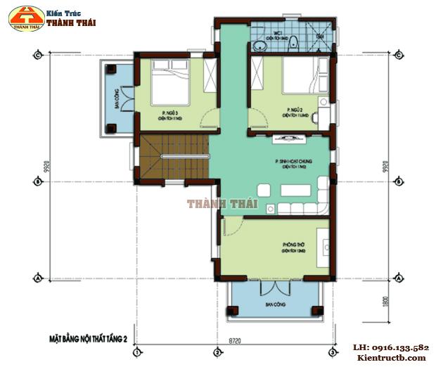 Thiết kế biệt thự hiện đại tại Đông Hưng, Thái Bình 02