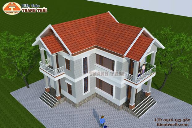 Thiết kế biệt thự hiện đại tại Đông Hưng, Thái Bình 07