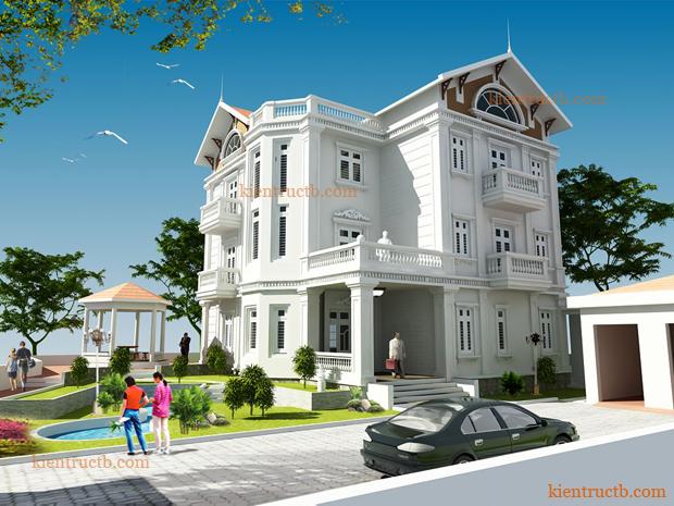 Thiết kế biệt thự 3 tầng tại Thành phố Thái Bình 07