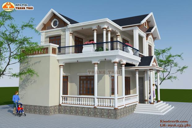thiết kế biệt thự 2 tầng tại Thái Bình 07