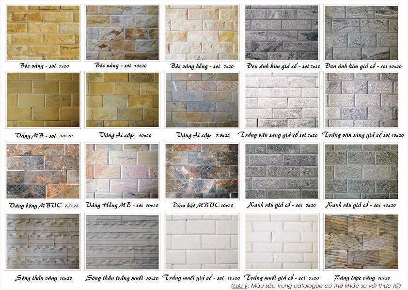 Mẫu đá ốp tường trang trí 01