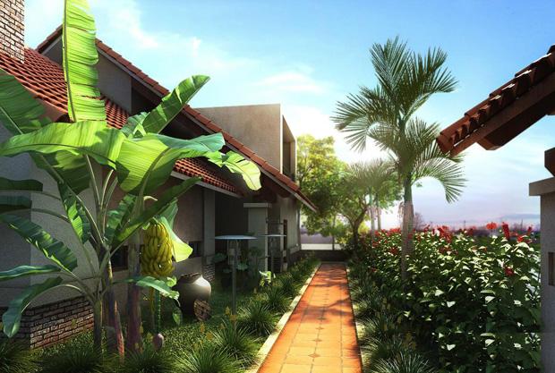 mẫu thiết kế nhà vườn đẹp 01