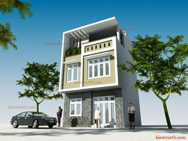 thiết kế nhà lô 3 tầng tại thành phố Thái Bình 01