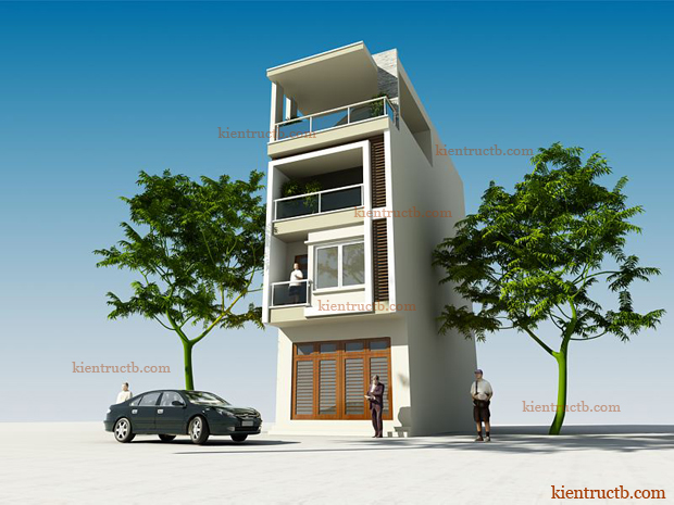 Thiết kế nhà lô 4 tầng tại thái bình 01