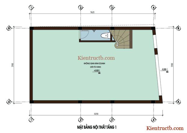 Thiết kế nhà ống 4 tầng tại Thái Bình 02