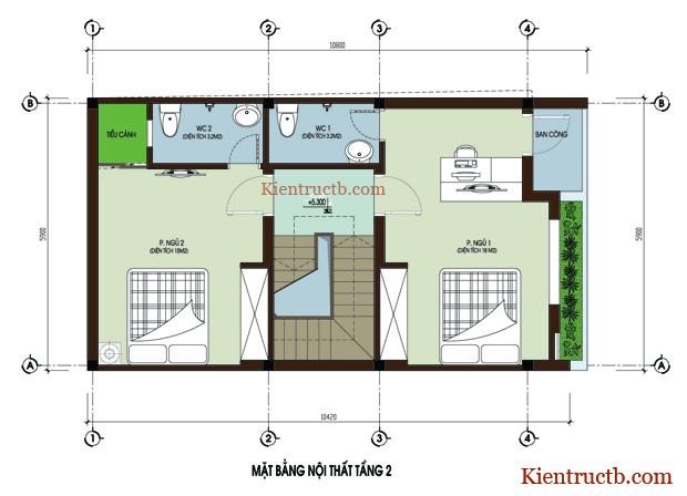 Thiết kế nhà ống 4 tầng tại Thái Bình 04