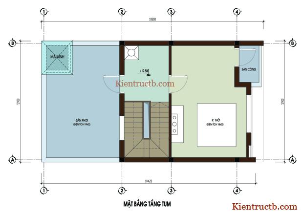 Thiết kế nhà ống 4 tầng tại Thái Bình 06