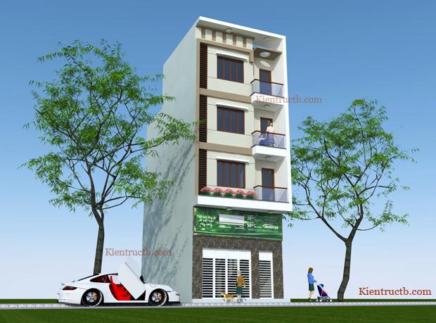 Thiết kế nhà ống 4 tầng tại Thái Bình 07