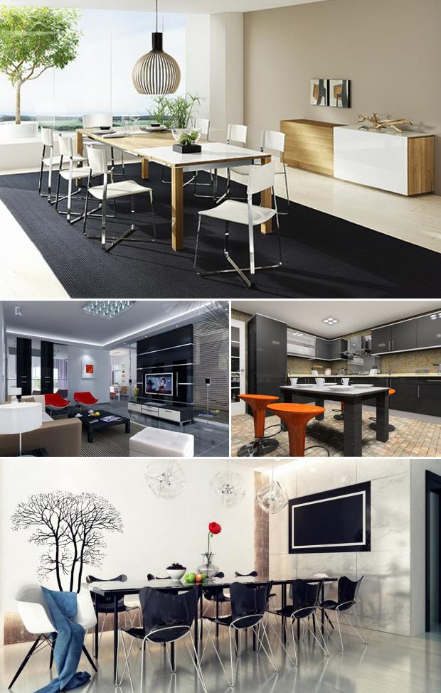 Mẫu nội thất mang phong cách hiện đại 02