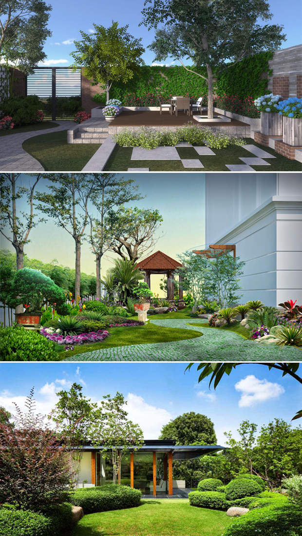 Tổng hợp mẫu sân vườn biệt thự 01