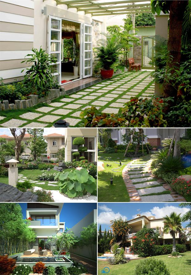Tổng hợp mẫu sân vườn biệt thự 02