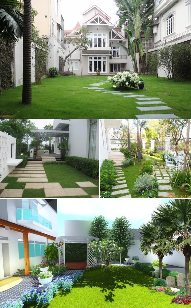 Tổng hợp mẫu sân vườn biệt thự 03