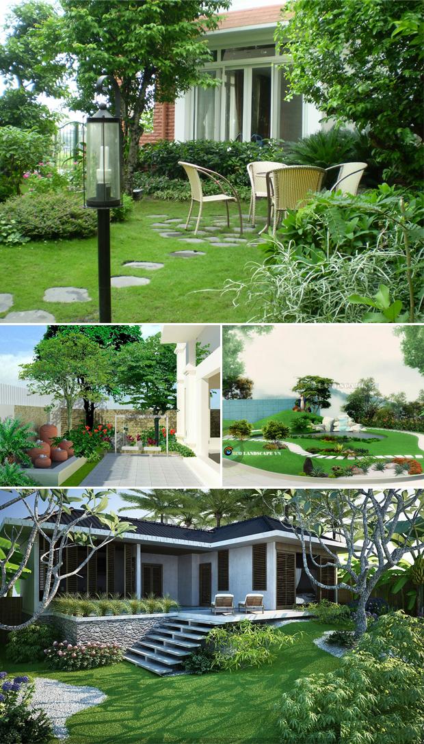 Tổng hợp mẫu sân vườn biệt thự 04