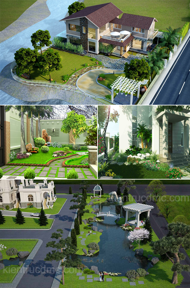 Tổng hợp mẫu sân vườn biệt thự 05