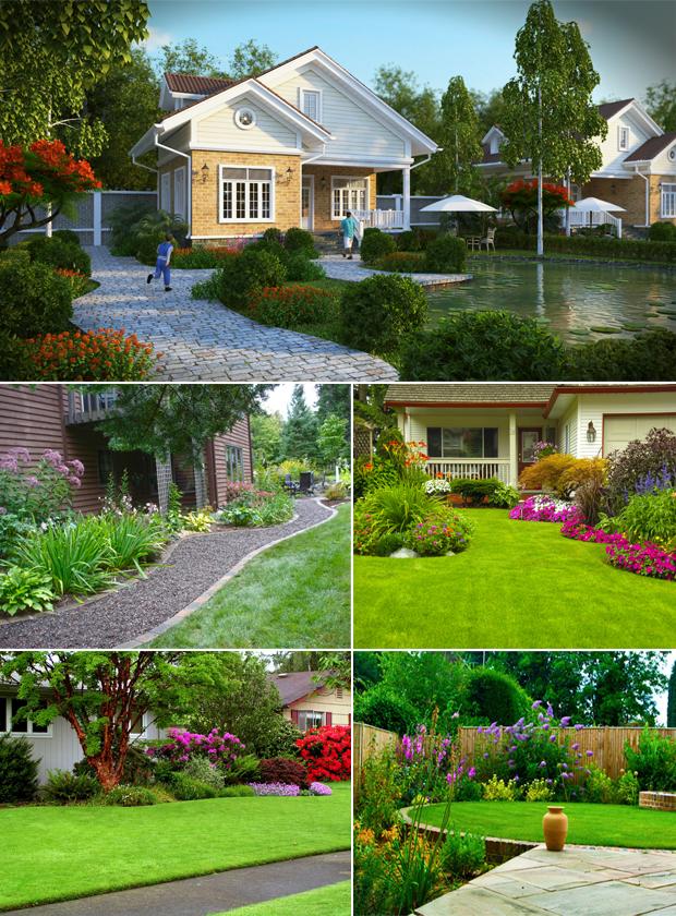 Tổng hợp mẫu sân vườn biệt thự 09
