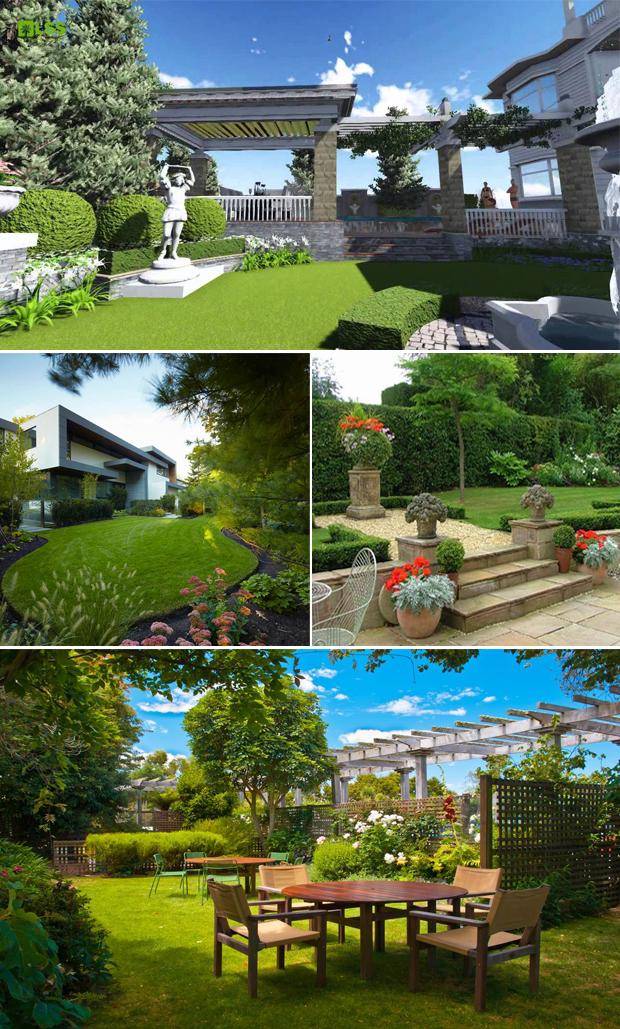 Tổng hợp mẫu sân vườn biệt thự 10